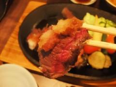 仙台牛のステーキ 寄り